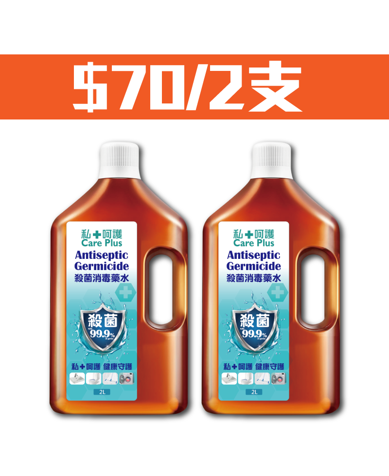 2L Care Plus Antiseptic Germicide Package